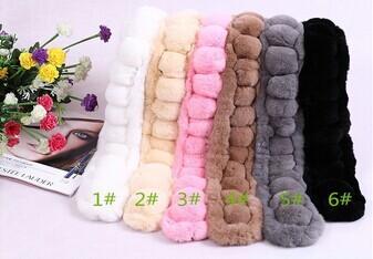 2014  winter new style rabbit fur scarf  rabbit stole mult color 14001