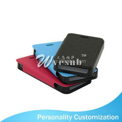 2015 fashion leather wallet phone Case Sublimation Blank sublimation phone cover For Iphone 4