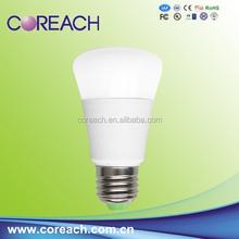 aluminum plastic mixed 7w led bulb e27 3000k coreach