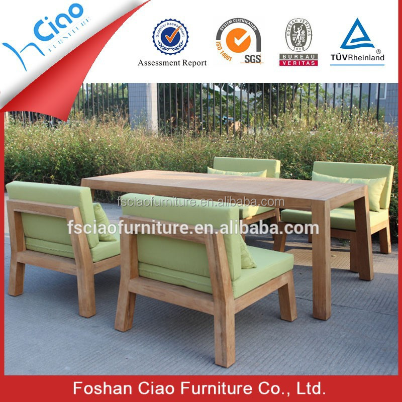 Luxury Outdoor Teak Wood Table And Chair Garden Wooden Furniture Garden Set Buy Outdoor Table
