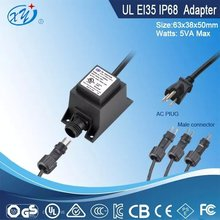 120V ac to 12V ac waterproof transformer with IP68 standard