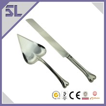 Filled With Love Silver Heart Wedding Knife & Cake Server Set Engraved With Bling Handle Guangdong China Supplier