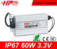 High quality Guangzhou factory wholesale price led power supply constant voltage single output 60w power supply 12v 5v 3.3v