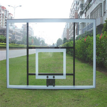 Safe and durable glass backboard for basketball