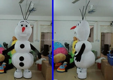 2014 best sells lovely carton costume snowman olaf mascot costume for adult