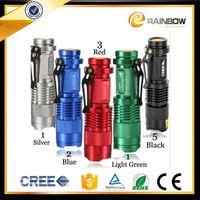 Xtreme bright aluminum colorful 5w multifunction led flashlight bailong