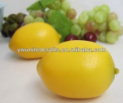 Artificial yellow lemon teach mold artificial fruit lemon