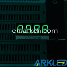 """0.36"""" four digit pure green RoHS compliant home applican 7 segment LED display module"""