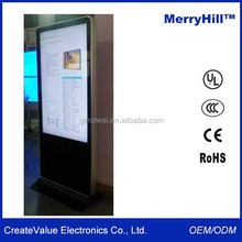 Network Wireless 3G WIFI LCD Display Standing 42/ 46/ 55/ 65 Inch Shopping Mall Advertising Touch Screen Kiosk