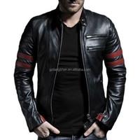 2015 popular unique leather jackets men slim fit jackets motorcycle leather jacket