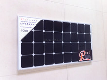 High efficiency 100W solar panel monocrystalline silicon solar cells