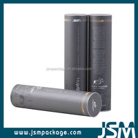 wholesale black packaging paper tube for red wine