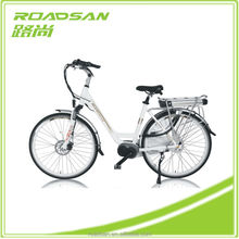 36V 250W Mid Crank Low Price Electronic Brands Alloy Frame electric bike green city