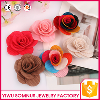 4CM Colorful multi layer fabric rose flowers head garment accessories