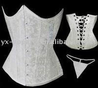 2015 new design waist traning brocade under bust corset plus size waist training corset