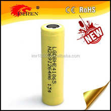 Newest! High drain 2500mah lg he4 18650 battery rechargeable li-ion battery high capacity high power battery 18650