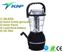 36 LEDS hand crank & Solar Panel & Rechargeable Camping Lamp