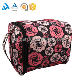 2015 Promotional transparent makeup bag/ travel hanging toiletry bag pouch