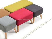 shs-008 cheap leather storage ottoman, folding storage ottoman, footstool pouf