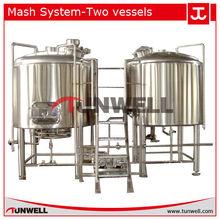 mash lauter tun/boil tun/whirlpool/wort kettle/boil/10 hl brewhouse