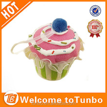 2014 Christmas Decoration Plush cupcake Hanging ornament