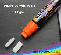 10 mm flat tip water based dry erase marker pen,water erasable paint markers