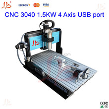 1.5KW 4 axis 3040 cnc router for aluminium
