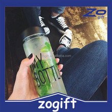 ZOGIFT Hot Selling 500ML plastic my bottle ,water bottle