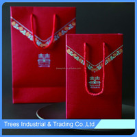 2015 Newest style red veil wedding candy gift paper bag