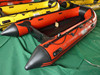 Inflatable catamaran rafting boat ASA-360 orange aluminium floor CE certified for sale!!!