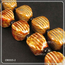 Coffee Painted Handmade Porcelain Beads