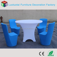 Event LED Light Restaurant Table Dining Table and Chair Banquet Table