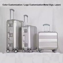 New Hard Strong Colorful Aluminum Trolley Luggage, Aluminum Travel Trolley Luggage