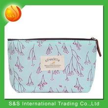 Fresh multi function floral canvas cute cheap fashion pencil case