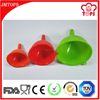Utensils Type and CE / EU,FDA,LFGB,SGS Certification Coloful Silicone Funnel/ Various Dimension 3 Sizes Silicone Funnel Set