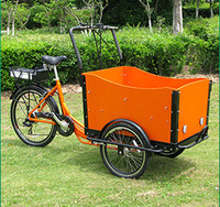 promotional 2014 hot sale three wheel box bicycle/cargo tricycle for kids