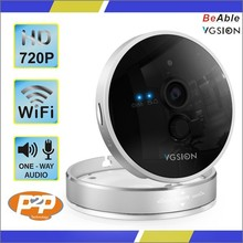 HD 720P resolution 3.6mm lens PIR human detection temperature and humidity detection two way audio 433 protocal wifi ip camera