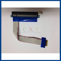 PCI-E 16X to 1X Riser Card Adapter Flex Extension Cable