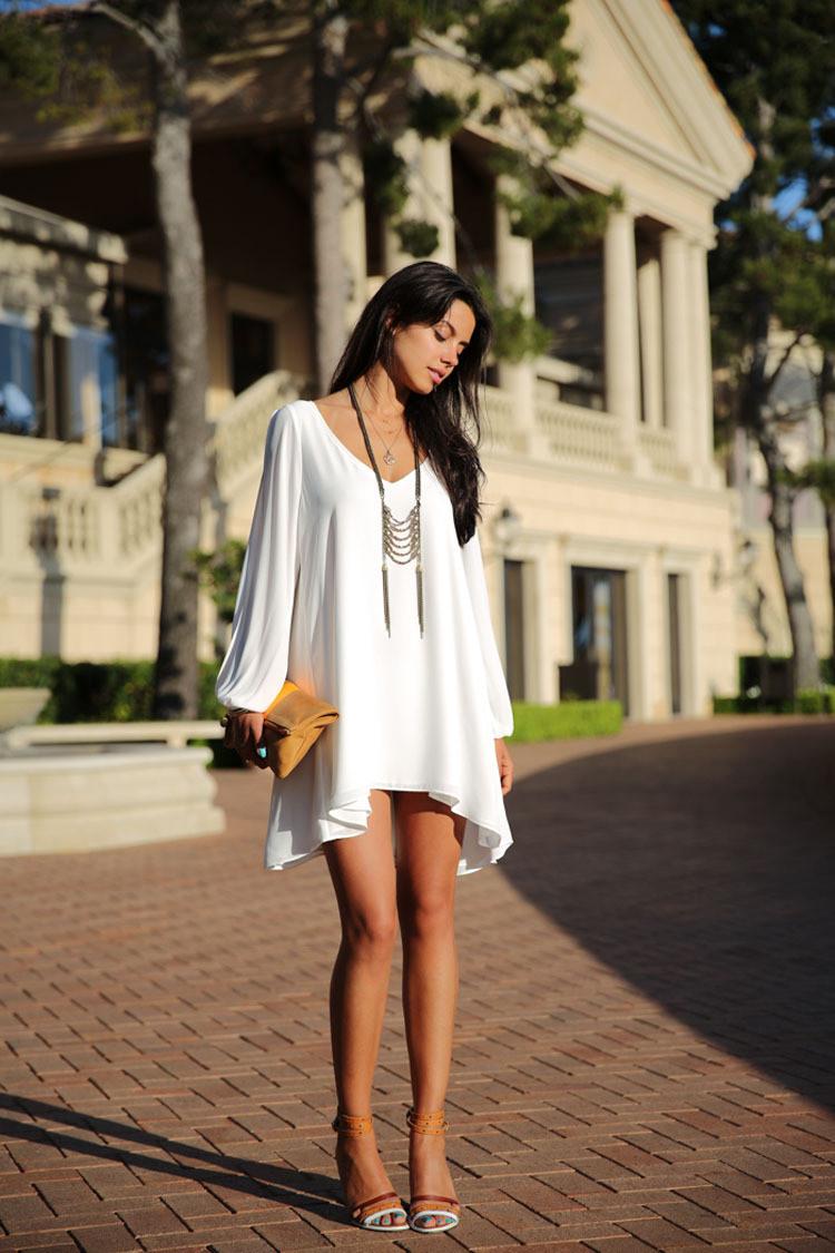 плюс размер новые женские знаменитости платье белые дамы Трапеция сексуальные короткие шифон платья c141 xl