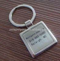 customized laser engrave logo key chain brand logo keychain