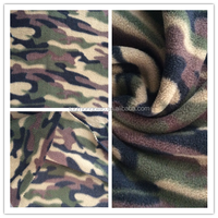 2015 Hot Sale DTY Camouflage Printing Two Side Brushed One side Anti-pilling Polar Fleece Fabric for Garment and Blanket