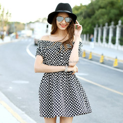 HJL-C1018 Veri Gude Summer new polka dot fashion slim fit strapless dress