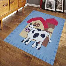 anti-slip frendly style shaggy child animal floor carpet