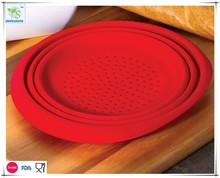 Mejor silicona plegable colador de malla colador para Pasta verduras frutas