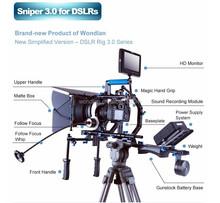 Wondlan High performance video shoulder rig for DSLR Camera / camcorder