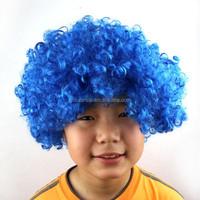 2015 Hot sale cheap synthetic hair afro fan dark blue wig