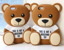 Factory supply attractive teddy bear mobile phone cover case for 4.7 inch iphone 6