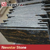 High quality polish black and golden marble tiles