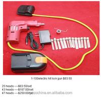 GOSO LOCKSMITH CIVIL USE TOOLS--1-100 KABA electric bump lock open set with battery