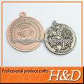 Fundición de medallas metal con el logotipo 3D